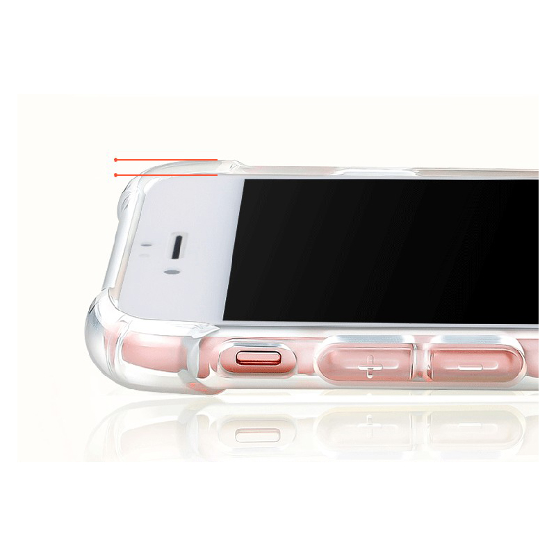 quality design 74aa8 cc5d7 Anti Knock Air Cushion Clear Transparent Thick Soft TPU Iphone 7 6S 6 8  Plus 5 5S SE 4 4S X Phone Case