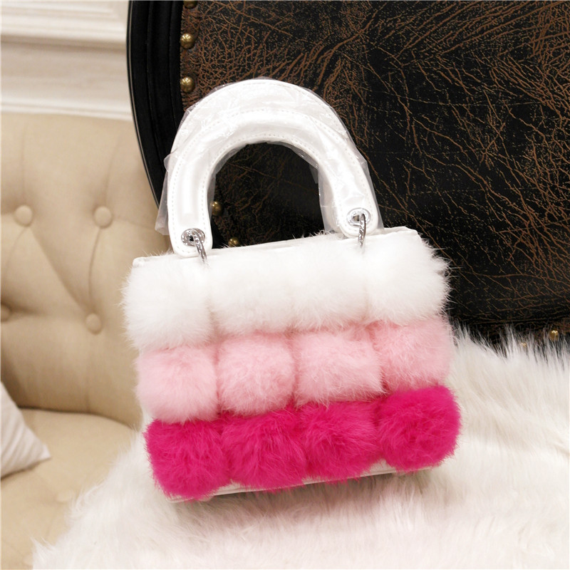 flap bag women bags totes flowers Fur Diamond Handbags container bolsas femininas pouch chanel boy flap bag
