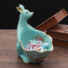 European Creative Furnishing articles Big mouth animal  Storage home decor tabletop handicraft resin figurines Miniatures