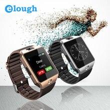 Dispositivos portátiles de elough dz09 smart watch con ranura para tarjeta sd electrónica muñeca reloj teléfono para el teléfono inteligente android smartwatch dz09
