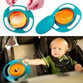 New Arrival Baby Feeding Bowl Toy Kids Plastic Gyro 360 Rotate Gyroscope Non Spill Universal Gyro Dish Funny Gift UFO Toy
