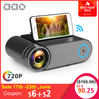 AAO YG420 Mini LED 720P Projector Native 1280x720 Portable Wireless WiFi Multi Screen Video Beamer YG421 3D AC3 HDMI Proyector