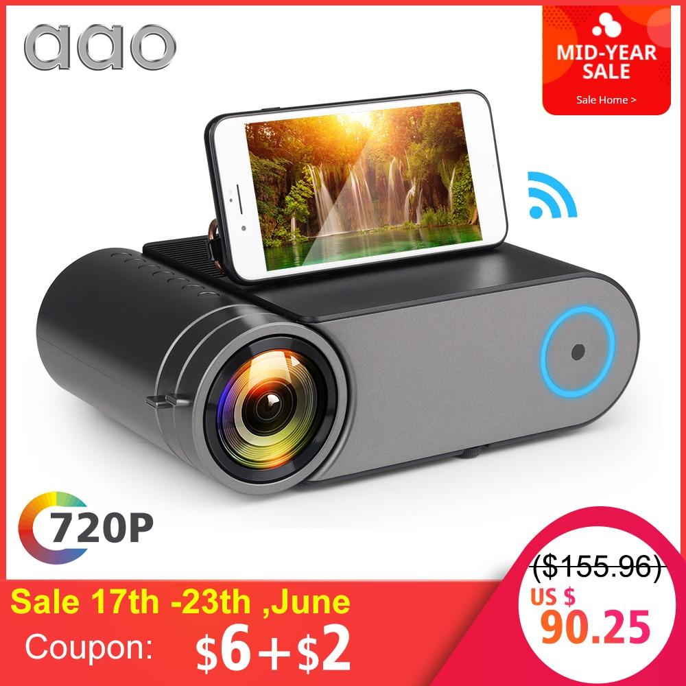 AAO YG420 Mini LED 720 P projecteur natif 1280x720 Portable sans fil WiFi multi-écran vidéo projecteur YG421 3D AC3 HDMI Proyector