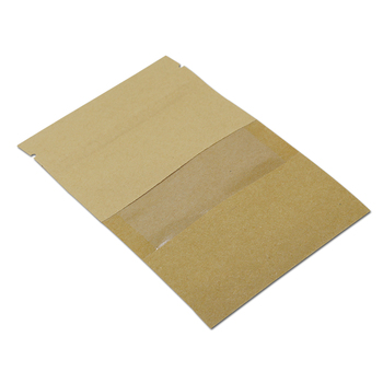 DHL Flat Brown Kraft Paper Zip Lock Bag With Clear Window Packaging Pack Pouch Reclosable Zipper For Food Nuts Tea Coffee Bag
