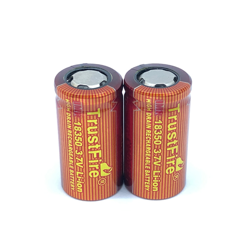 8pcs lot TrustFire IMR 18350 700mAh 3 7V Rechargeable Lithium Battery High Drain Batteries for Flashlight Electronic Smoke in Rechargeable Batteries from Consumer Electronics