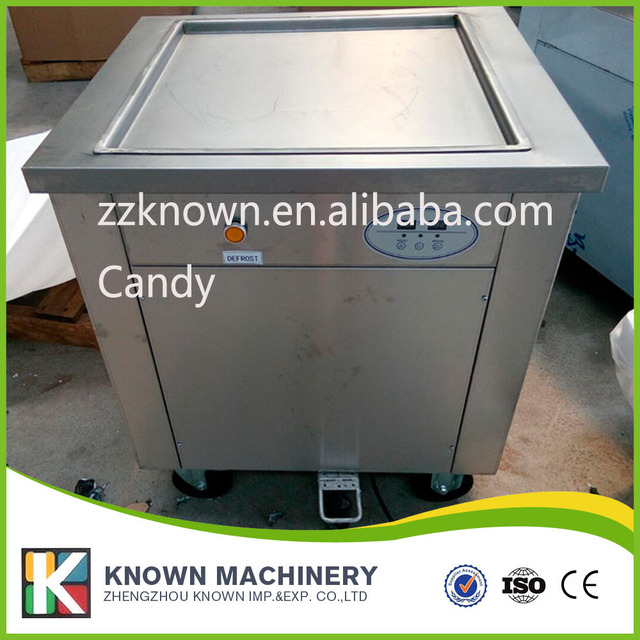 US $920 0  U shape pipe Free sea shipping Big square pan Thailand Fried Fry  ice cream machine R410A Refrigerant-in Ice Cream Makers from Home