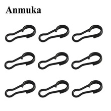 Anmuka 50pcs/lot Stainless Steel Carp Fishing Tackle Multi-clips Snap Matt Black Color Lure Connector Fishing Accessories Snap