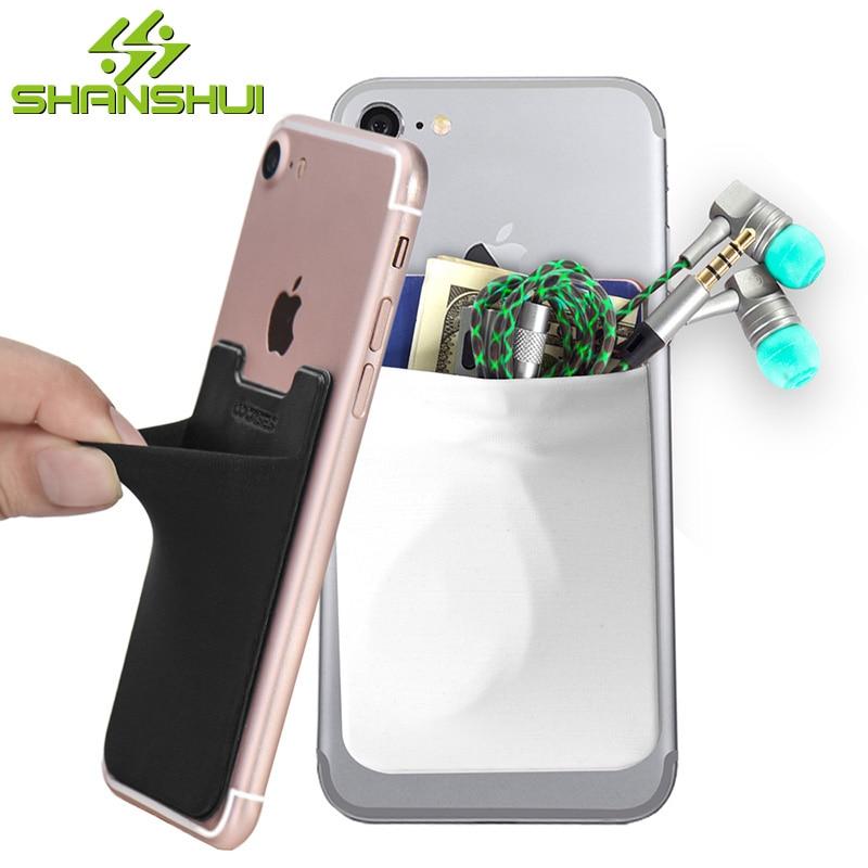 shanshui-elastic-lycra-id-card-holder-phone-wallet-case-ultra-slim-self-adhesive-credit-card-wallets-for-smartphones-2pcs-pack