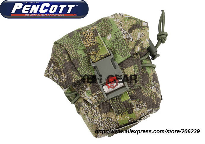 TMC SP5 Frag Pouch Frag Grenade Pouch Military Molle Pouch PenCott GreenZone Free shipping SKU12050619