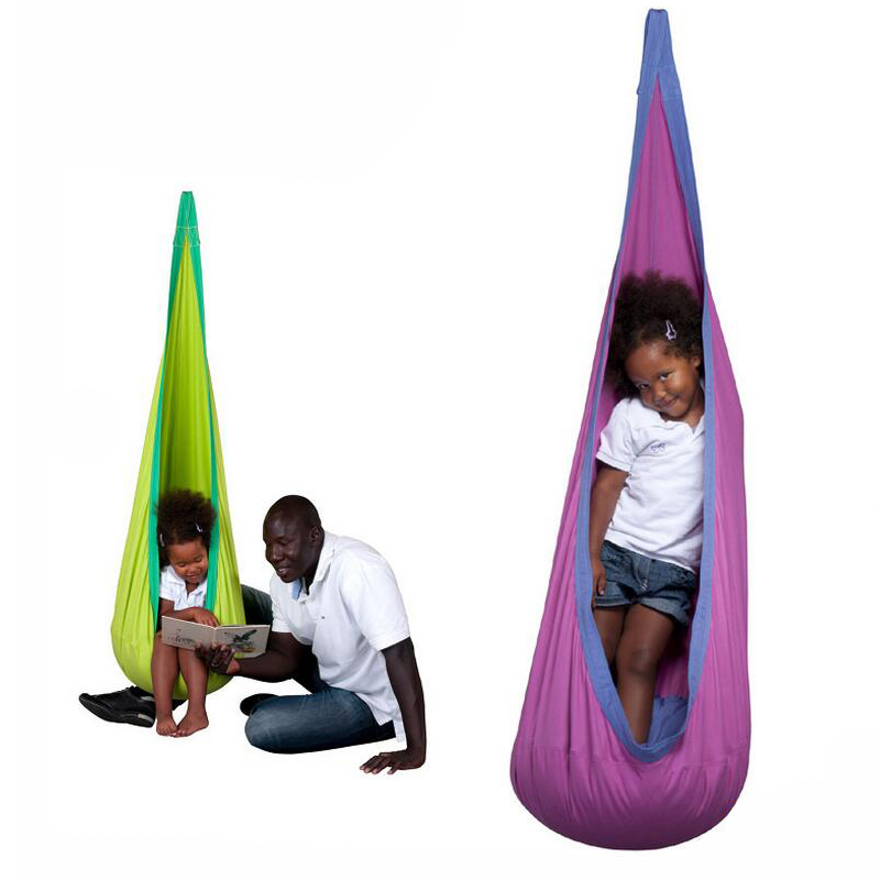 Children Swing Chair Haning Bag Indoor And Outdoor Toy Funny Family Day 100% Cotton Comfortable Safe funny fishing game family child interactive fun desktop toy