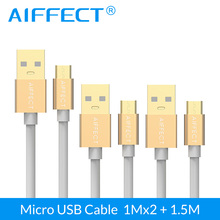 цены на AIFFECT 3 Pack High Speed Micro USB Cable Micro-USB Cable Micro B to USB Data Charging Sync Cable Cord Line 3.3Ft X2 and 5FT  в интернет-магазинах