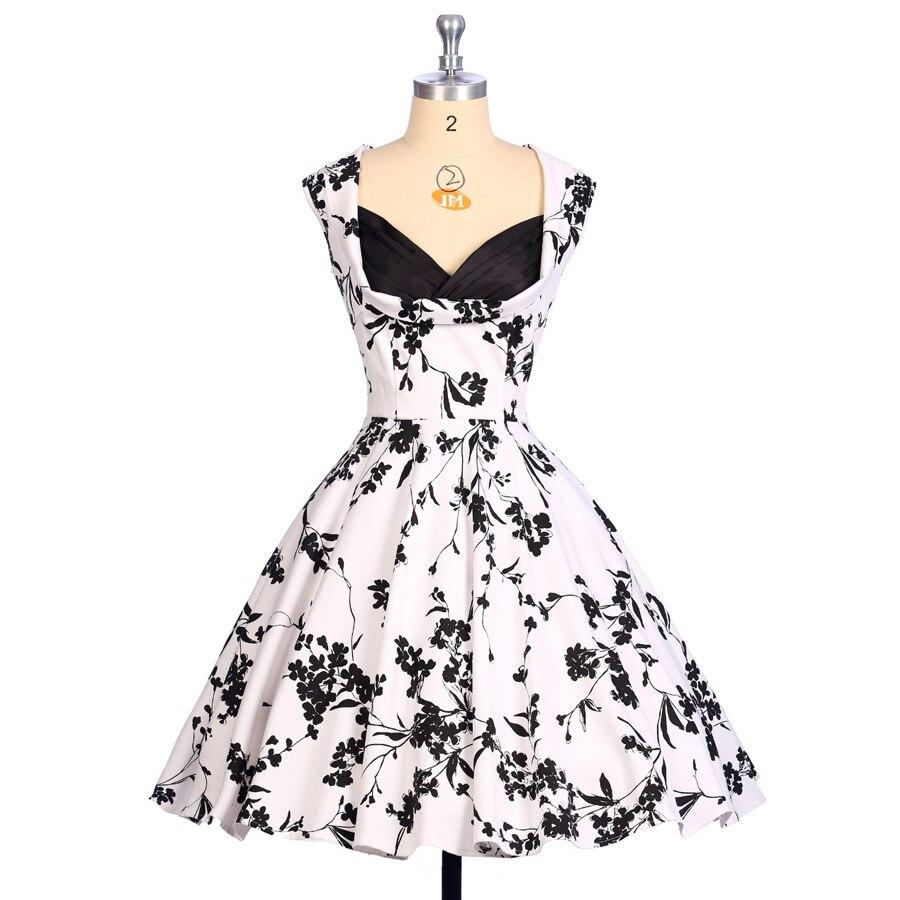 303b49f44ef Sleeveless summer women dress floral print 1950s knee length short midi  pinup casual vintage rockabilly dresses 2016 plus size