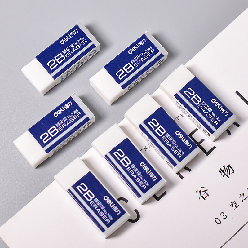 1 Pcs Soft Rubber 2B Pencil Eraser Student Art Sketch Painting Correction Supplies School Exam Writing Eraser Stationery