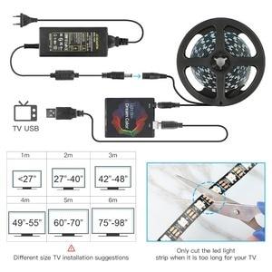 Image 5 - حلم تلفزيون ملون الخلفية شريط ليد مزود بيو إس بي RGB 5050 WS2812B LED أضواء 5V ل HDTV PC شاشة خلفية التحيز الإضاءة 1M 2M 3M 4M 5M