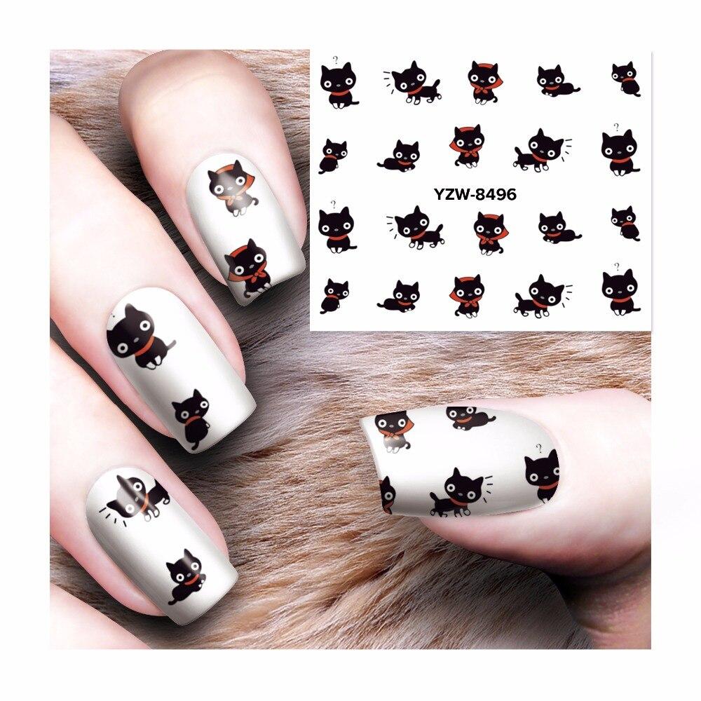Lcj Kat Stijlen Nail Art Water Transfer Sticker Decals Wraps Tips