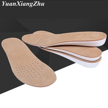 Men Women Insoles Comfort Pigskin Insole LaTeX EVA High-elastic Shock-absorbing Increase Shoes Running Sports PD2