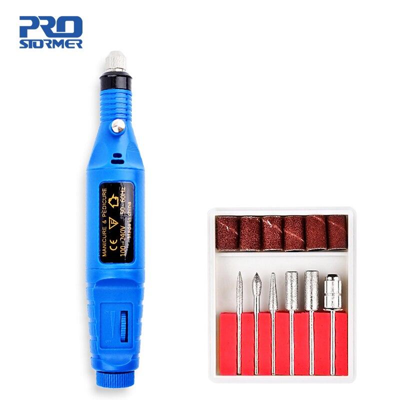 PROSTORMER 5 Colors Mini Engraver Mini Drill 100V-240V Electric Carving Pen Mini Polish Manicure Nail Art Grinder Drill Machine