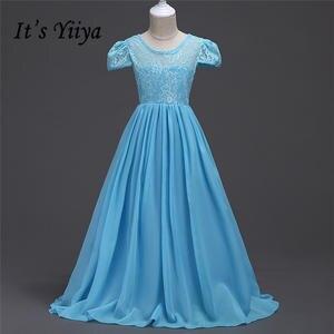 83ac139c6a3a It's YiiYa Floor-Length Kids Flower Girls Dress Communion