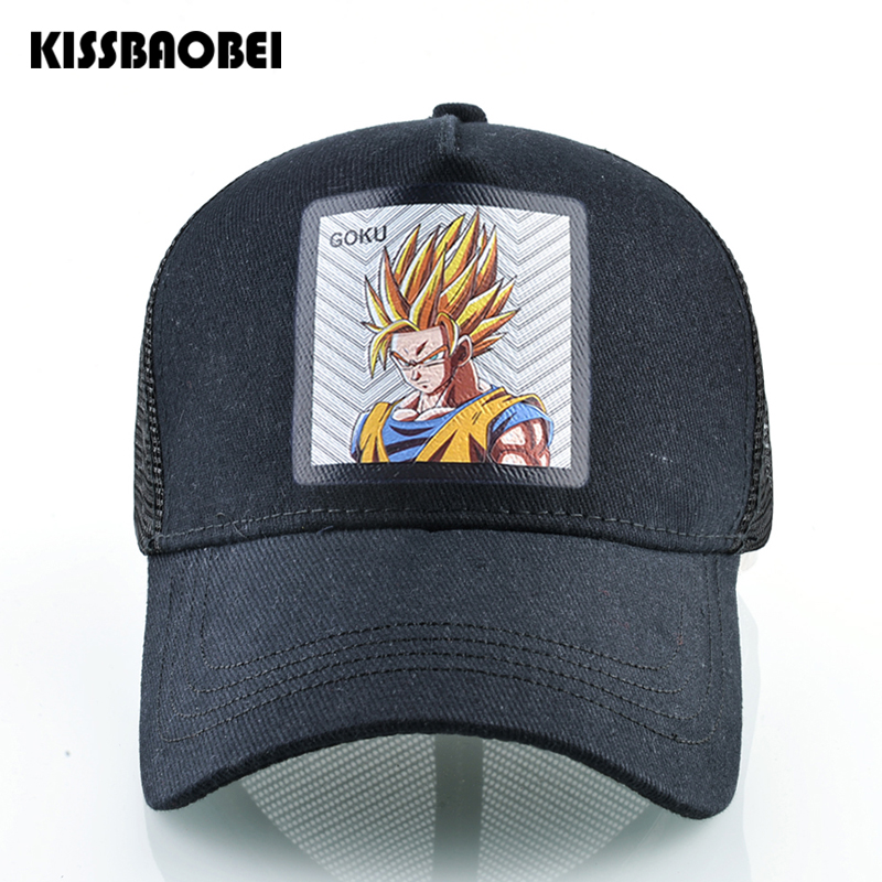 Fashion Dragon Ball Snapback Dad Hats For Men Full   Baseball     Cap   Women Hip Hop Trucker Hat Men Summer Adjustable Hat Casquette