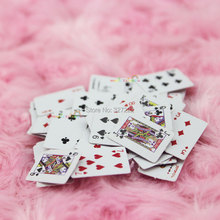 Poker Cards Playing Game 54pcs with two boxes for Barbie Doll Blythe Dollhouse Miniature 1:12