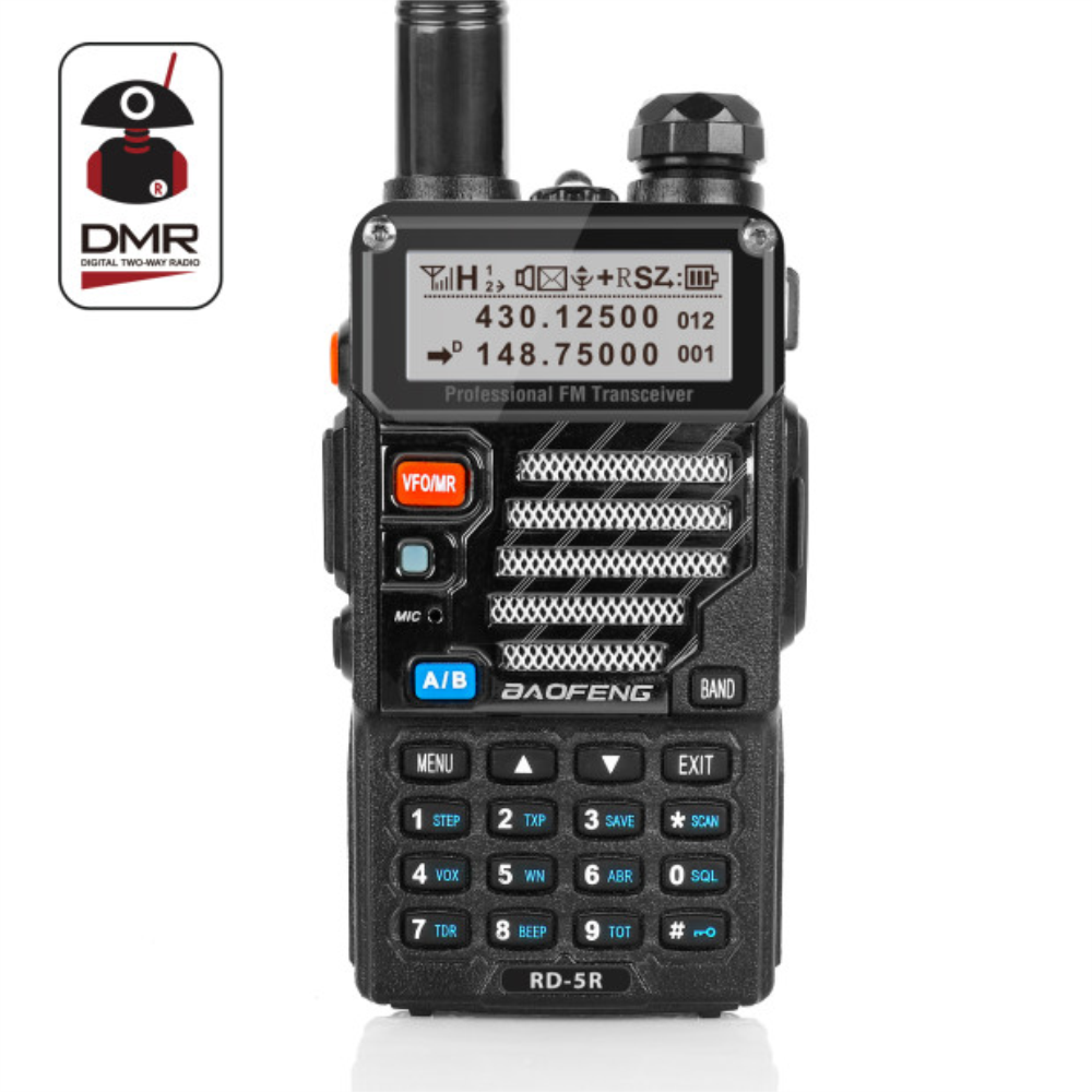 Baofeng RD-5R DMR Tier II VFO Digitale Dual Band Dual Slot 136-174/400-470 mhz Two way Radio walkie Talkie Ham Transceiver