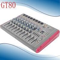 Мини аудио микшер GT80 Малый микшерный пульт 8 канальный