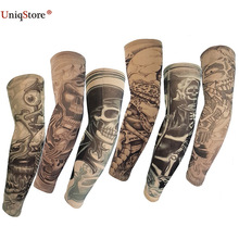UniqStore 6Pcs Tattoo Arm Sleeves Kit Fashion Warmers Ice Sunscreen Sleeve Summer Cycling Outdoor Sport Oversleeve High Quality