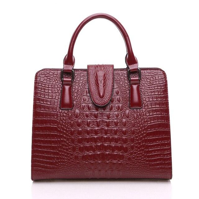 New 2017 Bag Women Handbag Cow Split Leather Embossed Female Handbags Solid Color Elegant Fashion Ladies Handbags Bags