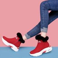 MYCORON/новые модные ботинки носки на платформе и каблуке, роскошные дизайнерские ботинки, зимние повседневные женские ботинки, zapatos Mujer Invierno