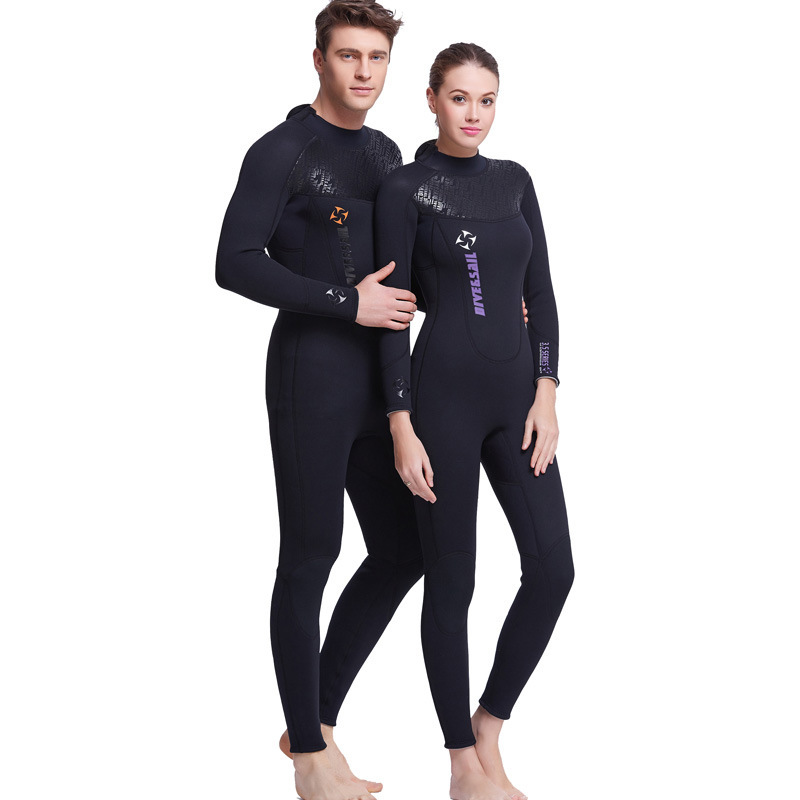 цена на DIVE&SAIL 3MM Neoprene Wetsuit Men Diving Suit For Women Surfing Swimsuit Wet Suit For Swimming Suit Long Sleeve Surf Full Suit