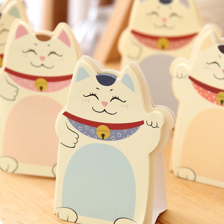 1pcs/lot New Kawaii Lucky cats design Notepad Memo pad Paper sticky note message post nice stationery supplies