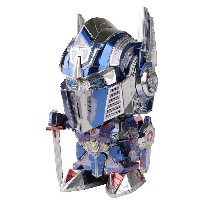 MMZ MODEL MU 3D Metal Puzzle  The Last Knight Robots Head Replaceable Model DIY 3D Laser Cut Assemble Jigsaw Toys GIFT For Adult