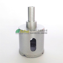 цена на Dia40mm  Round shank Vacuum brazed diamond core bits, glass drilling bits  free-shipping