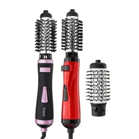 2 In 1 Hot Air Brush Electric Curling Rod Multifunctional Hair Styling Tools Automatic Rotating Hair