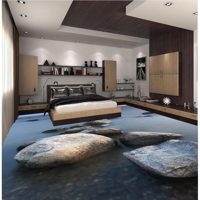 3d floor painting wallpaper stone 3d floor wallpaper for - Waterproof floor paint for bathrooms ...