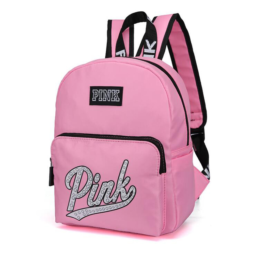 Travel Backpack Waterproof Student-Bag PINK Fashion New Zipper Letter Wear Three-Dimensional-Zipper