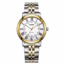 2017 Men's Fashion Brand CASIMA Casual Sport Watch Stainless Steel Strap Quartz men Wristwatches Waterproof relogio masculino
