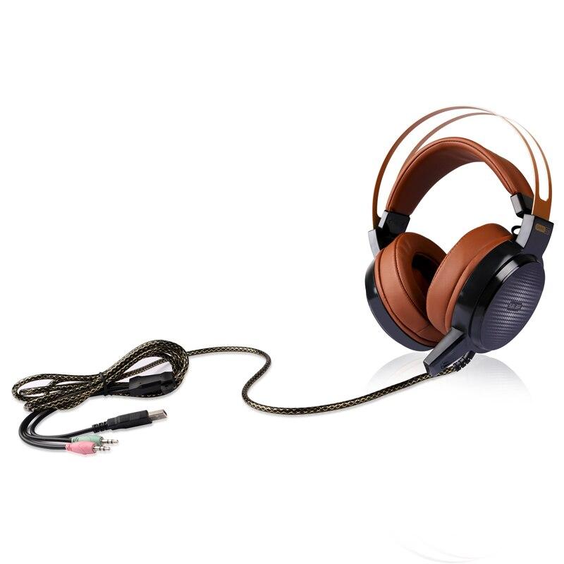 Salar C13 Wired Gaming Auricular Bajo Profundo Juego de Auriculares auriculares de la Computadora con micrófono led light auriculares para ordenador pc