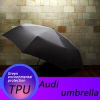 Automatic Folding Umbrella Rain Sunshade Logo Umbrella Quality Windproof For Audi A3 A4 A5 A6 B6 B8 C6 80 B5 B7 Q3 Q5 Q7 TT 8P