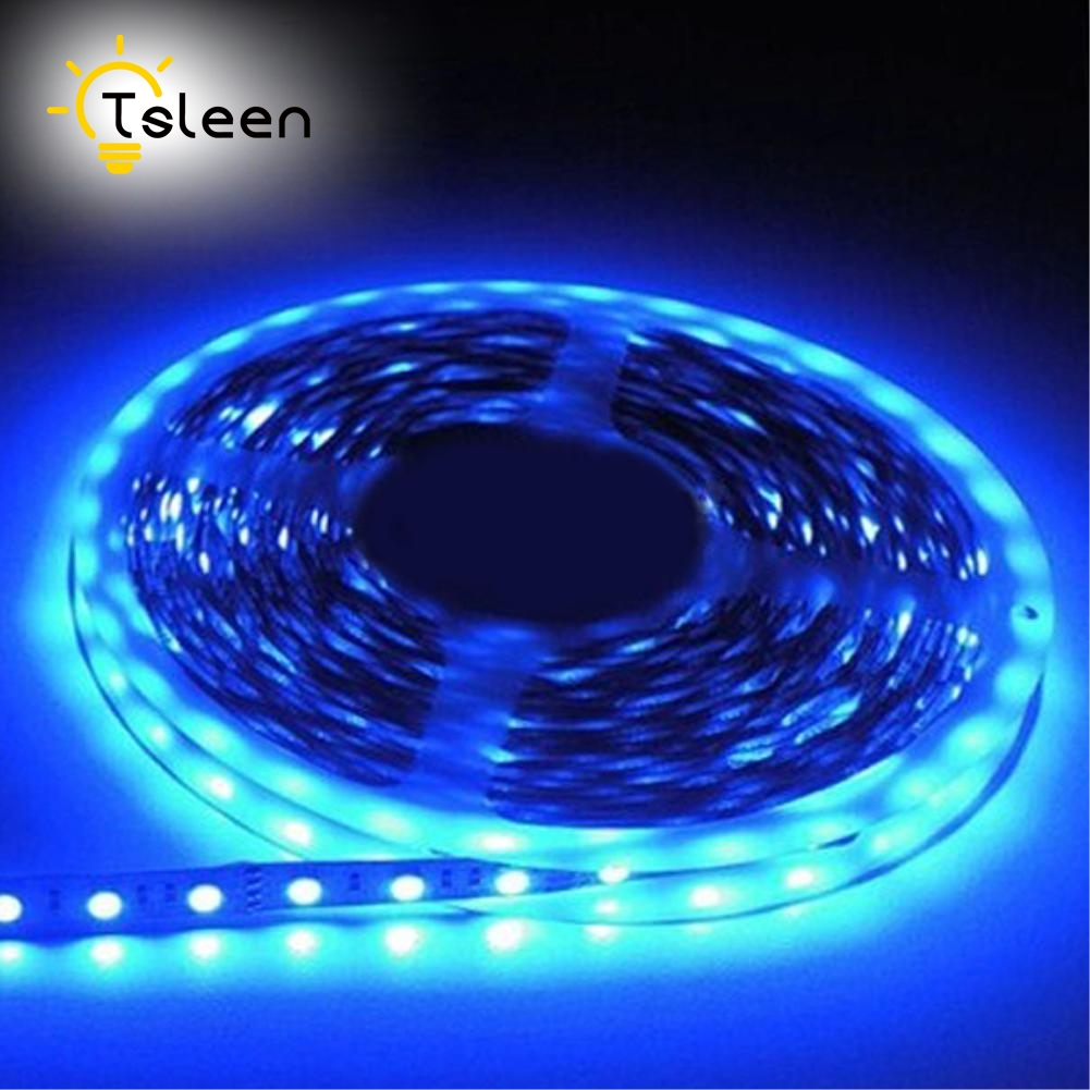 TSLEEN Free Shipping! Waterproof SMD5050 5630 Led Tape DC12V Flexible RGB Led Strip Light 60 Leds/Meter Outdoor Garden Lighting