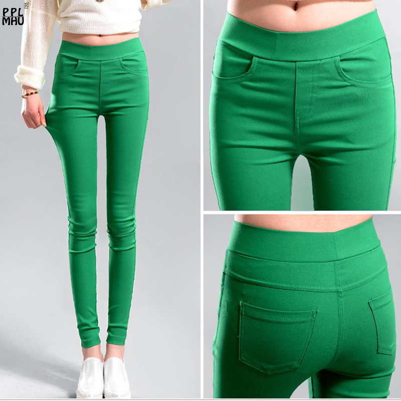 Women's Skinny Pencil Pants Casual Plus Size Elastic Trousers 2019 High Quality Stretch Jogger Pants Female Jeggings Jeans