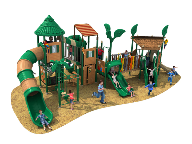 Backyard Playground Accessories Natural Outdoor Playground Equipment  Commercial Big Playground Huge Fun YLW OUT180320