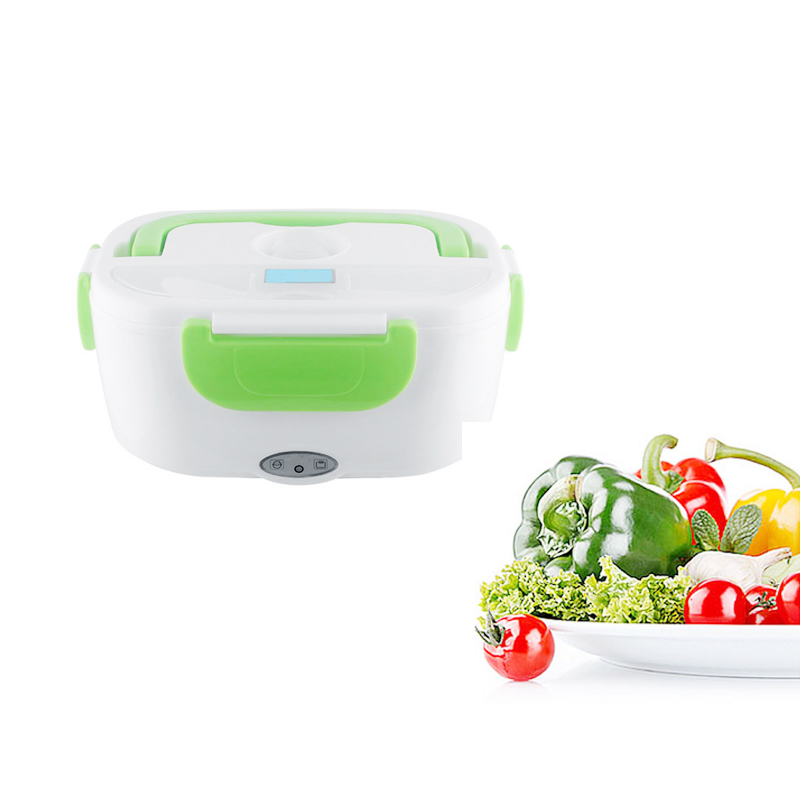 110V AC Portable Electric Heating Lunch Box Food Storage Warmer Removable Food Container For Home- multi function electric lunch box stainless steel tank household pluggable electric heating insulation lunch box