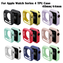 Soft Silicone Case for Apple Watch IWatch Series 4 Cover Frame Full Protection 40mm 44mm Strap Band