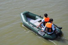3.3M rubber boat inflatables kayak fishing boat inflatable surfing boat laminated  wear-resistant pvc boat for 6-7person