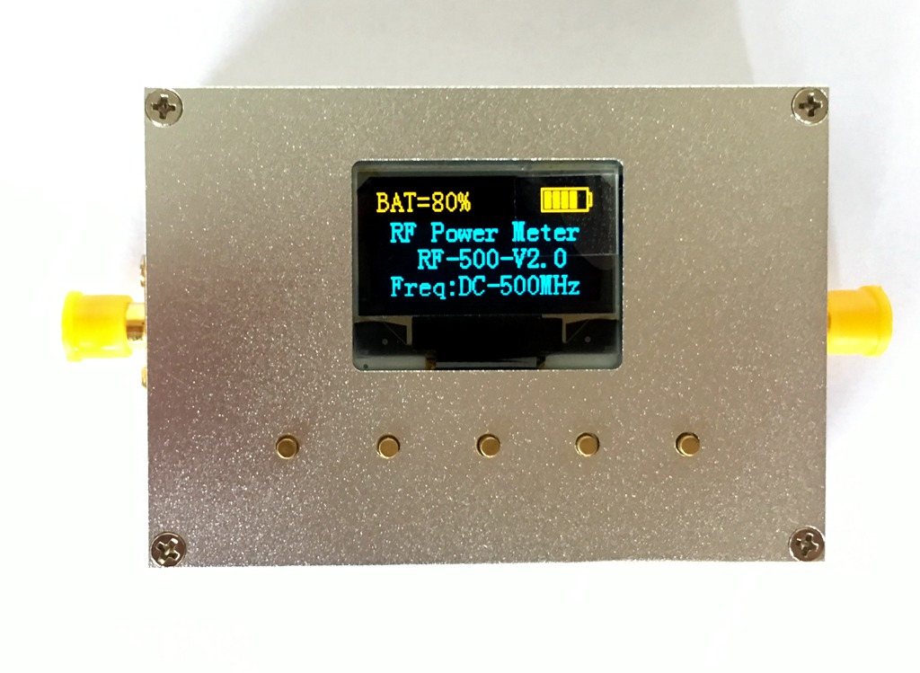 Radio Frequency Power Meter V2.0 Can Set Radio Frequency Power Attenuation Number CNC ShellRadio Frequency Power Meter V2.0 Can Set Radio Frequency Power Attenuation Number CNC Shell