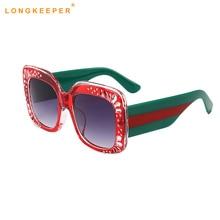 2019 New Fashion Oversized High Quality Sunglasses Women Mirrior UV400 Brand Designer Mirror Shades Sun Glasses LongKeeper