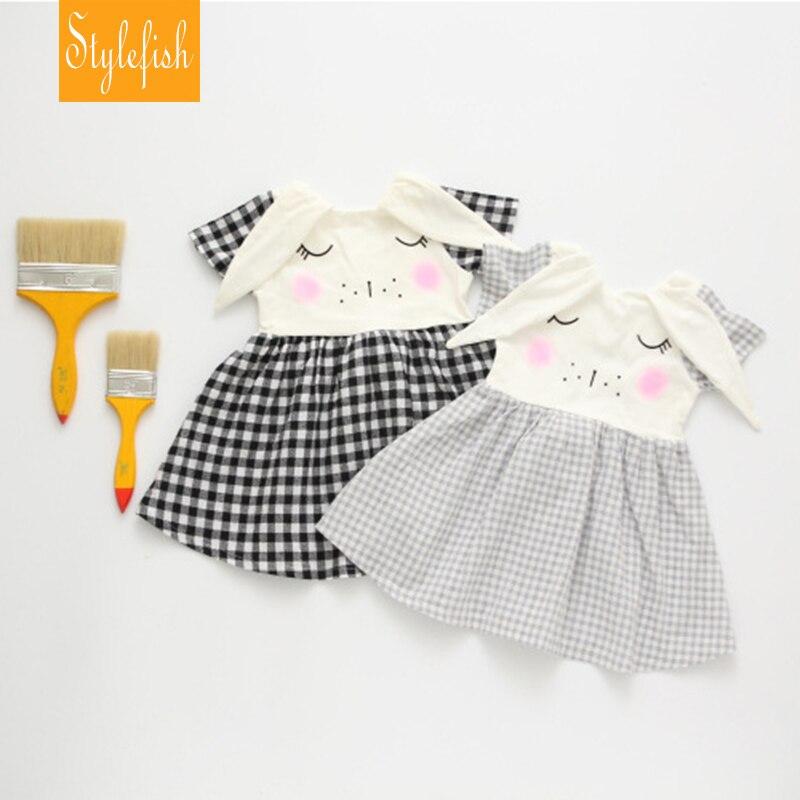 2016 Summer New Fashion Models Cute Infant Children s Clothing Female Baby Girls Short Sleeved Dress