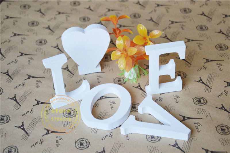 Artificial Wood Letters 10cm Artificial Wooden White Letters ZAKKA Home  Decoration Birthday Wedding Decoration Gift