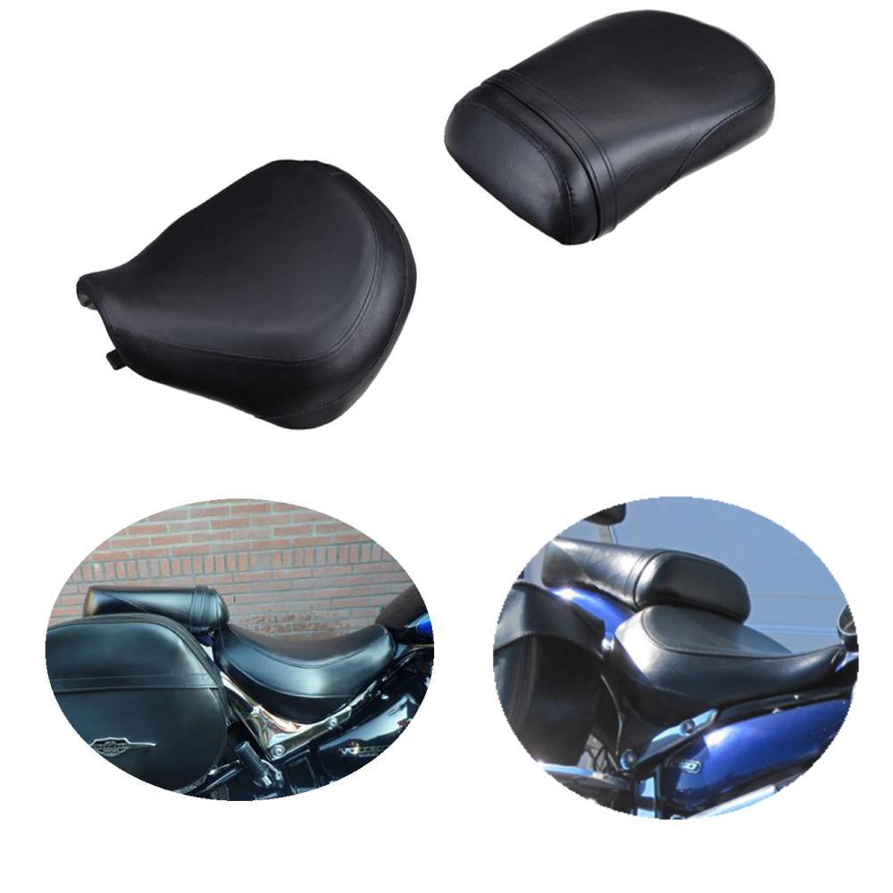 For Suzuki Volusia VL800 2001 - 2004 02 03 C50 Boulevard 2004 - 2013 Front & Rear Driver Passenger Leather Cushion Seat Set